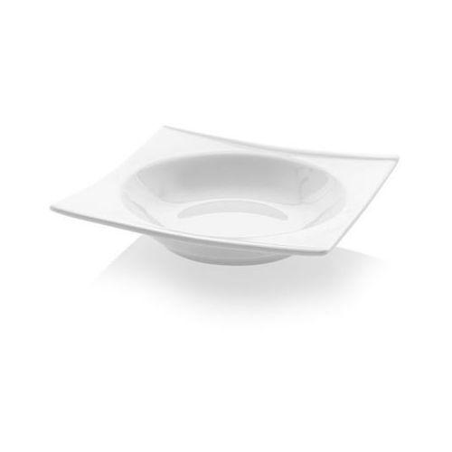 Talerz głęboki kwadratowy Bianco | 200x200 mm