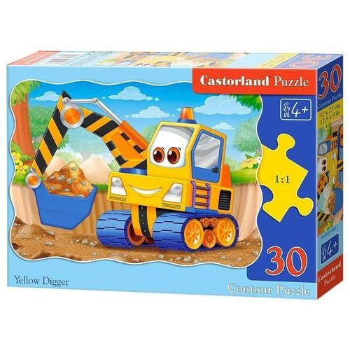 Puzzle 30 elementów Yellow Digger, 5904438003464_810148_001