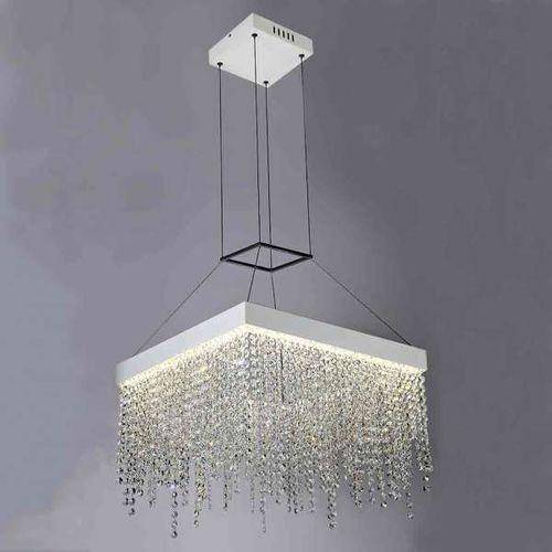 Orlicki design Kryształowa lampa wisząca cristallo s oprawa zwis led 40w crystal kwadrat przezroczysty (1000000280425)