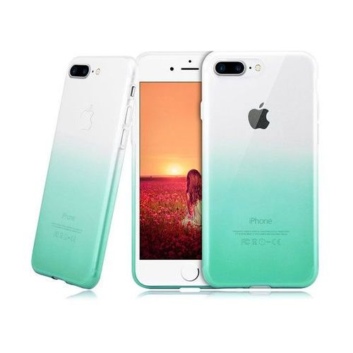 Etui Alogy ombre case Apple iPhone 7 Plus / 8 Plus Zielone + Szkło - Zielony