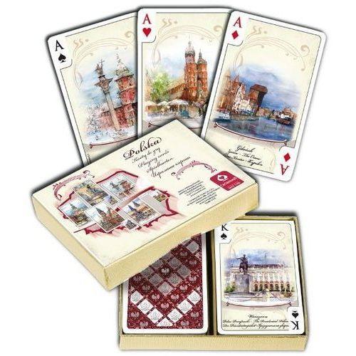 Karty do gry. polska akwarele komplet brydżowy 55 listków marki Cartamundi