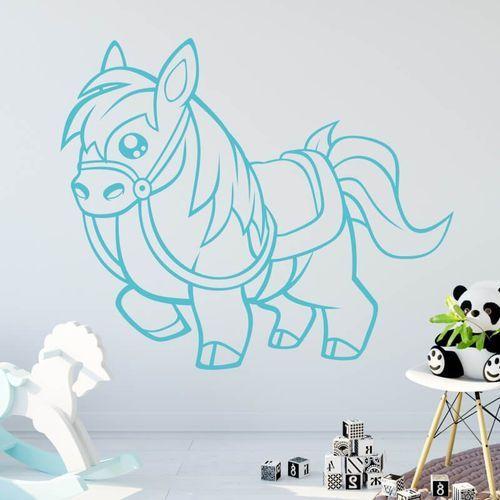 Wally - piękno dekoracji Naklejka na ścianę dla dzieci konik 2389