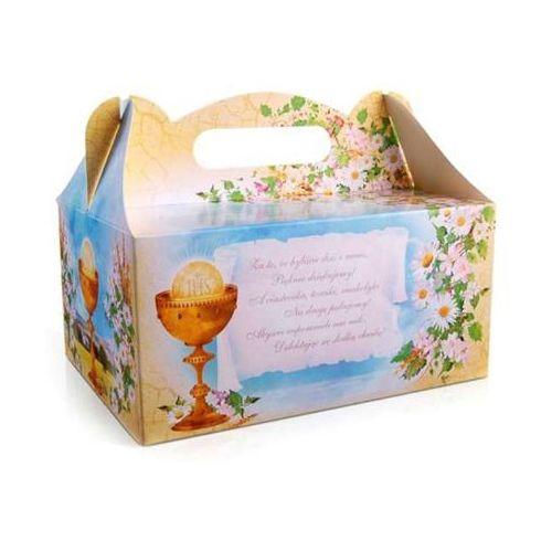 Ozdobne pudełko na ciasto komunijne z nadrukiem - kielich - 1 szt. (5901157437563)