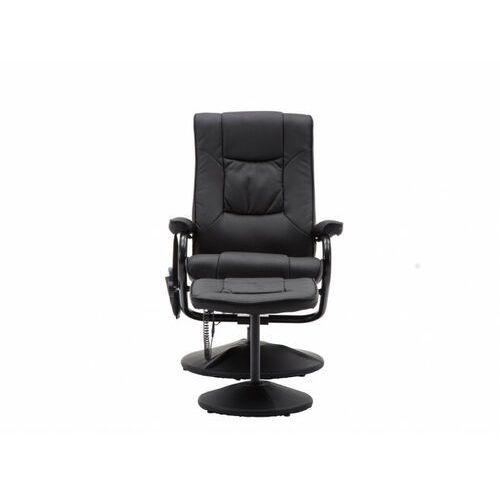 Vente-unique Fotel do masażu gabino – skóra syntetyczna – kolor czarny