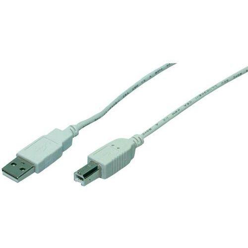 Kabel usb 2.0 , [1x złącze męskie usb 2.0 a - 1x złącze męskie usb 2.0 b], 1.8 m, szary marki Goobay