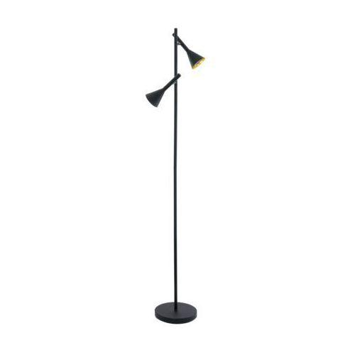 Eglo 97806 - LED Lampa podłogowa CORTADERAS 2xGU10/5W/230V, kolor Czarny