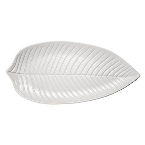 Półmisek liść z melaminy Natural Collection biały 360 mm APS-83435