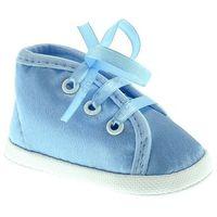 Omnia baby Atłasowe buciki dla dzieci m006 - niebieski