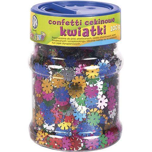 Confetti cekinowe kwiatki mix kolorów 100g ASTRA (5901137079349)