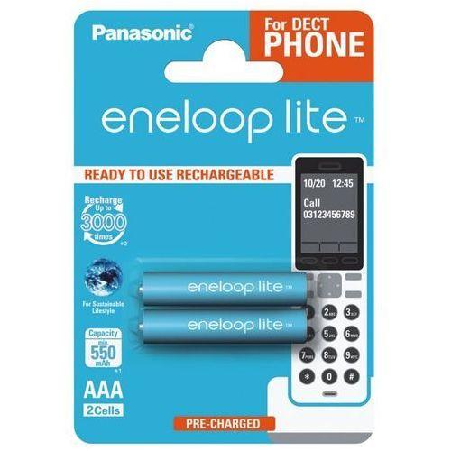 Panasonic 2 x eneloop lite r03/aaa 550mah bk-4lcce/2be (blister)