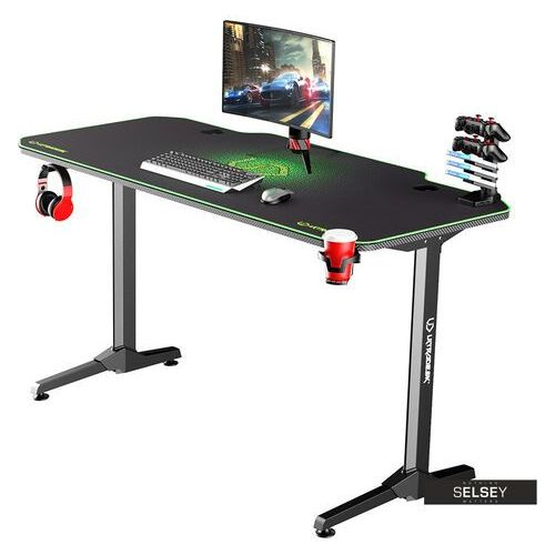Selsey biurko gamingowe gamora zielone