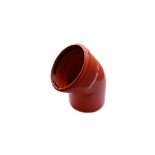Kolano kanalizacji zewnętrznej 200 mm/45° POLIPLAST (5907660707193)