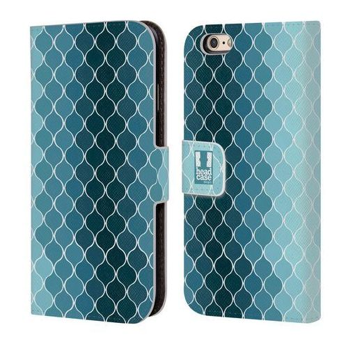 Etui portfel na telefon - Ogee Pattern OMBRE BLUE, kolor niebieski