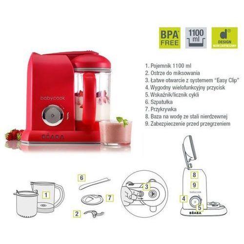 BEABA Babycook Solo Red - wielofunkcyjne urządzenie do przygotowywania posiłków
