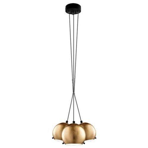 Lampa wisząca myoo 3b/s/gold/opal szklana oprawa nowoczesna zwis kule złote marki Sotto luce