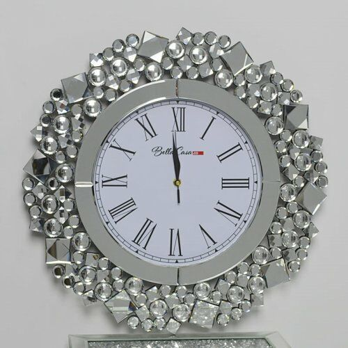 Okrągły zegar glamour C-0511 50x50x4,6 cm