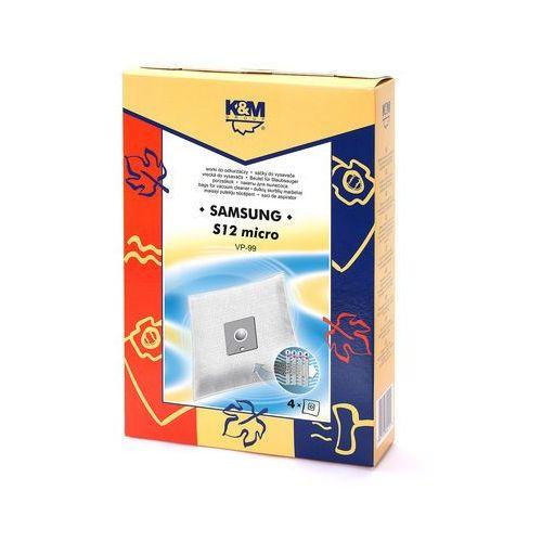 Worki do odkurzaczy  samsung vp-99 micro bag s12 (4 szt.) marki K&m