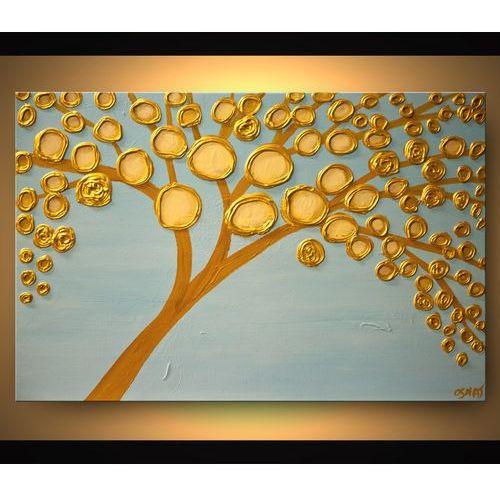 ręcznie malowany, grubo fakturowany obraz nowoczesny