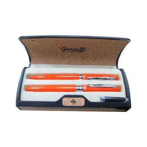 Komplet długopis z piórem pomarańczowy 839159 - spokey marki Easy stationery