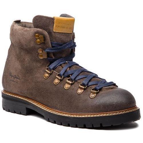 Kozaki PEPE JEANS - Sherpa Boot Sde PMS50166 Stag 884, kolor brązowy