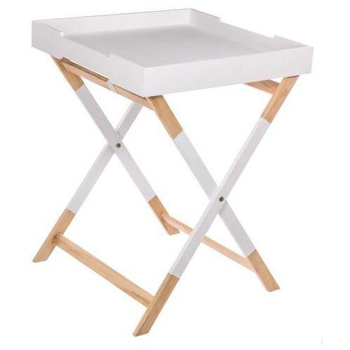 Stolik składany, kwadratowy HEDRA - drewno sosny i MDF, 45 x 45 x 60 cm (3560234476936)