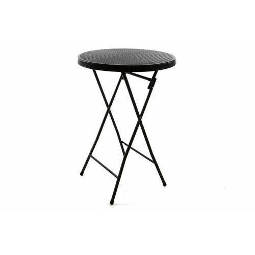 Okrągły stół ogrodowy - rattanowy wygląd 110 cm - czarny