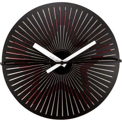 NeXtime - Zegar ścienny Kinegram Star - czerwony, kolor czerwony