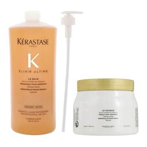 Kérastase Kerastase elixir ultime   zestaw: kąpiel 1000ml + maska 500ml + pompka w prezencie!