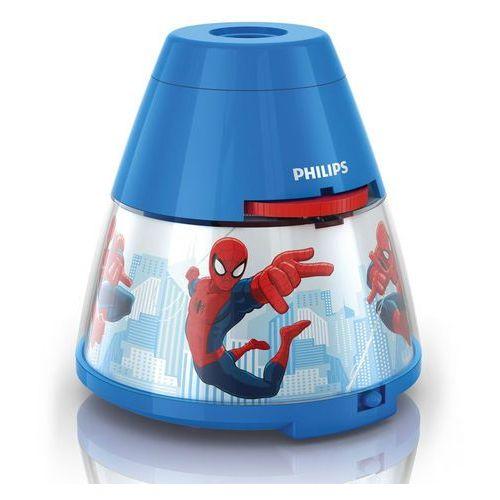 DISNEY - Lampka nocna Projektor LED Niebieski Spiderman Wys.11,8cm z kategorii Oświetlenie dla dzieci