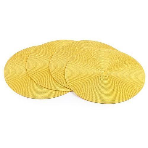 Podkładki na stół Deco okrągłe żółty, śr. 35 cm, 4 szt.