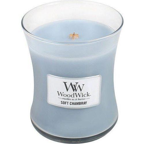 Świeca Core WoodWick Soft Chambray średnia, 92086