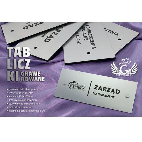 Tabliczki informacyjne dla firmy i biura - sz091 - wym. 250x100mm marki Grawernia.pl - grawerowanie i wycinanie laserem