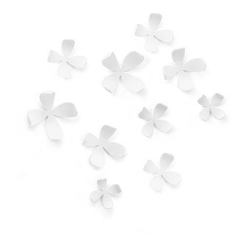- dekoracja ścienna wallflower - biała - 10 szt marki Umbra