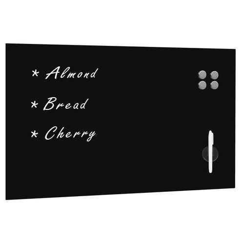 vidaXL Ścienna tablica magnetyczna, szklana, czarna, 100 x 60 cm (8718475598145)