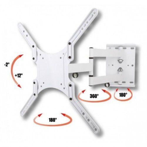 """Uchwyt ścienny LCD/LED Techly 23-55"""" regulowany, biały (8054529023851)"""