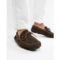 Dune Driving Shoes In Brown Suede - Brown