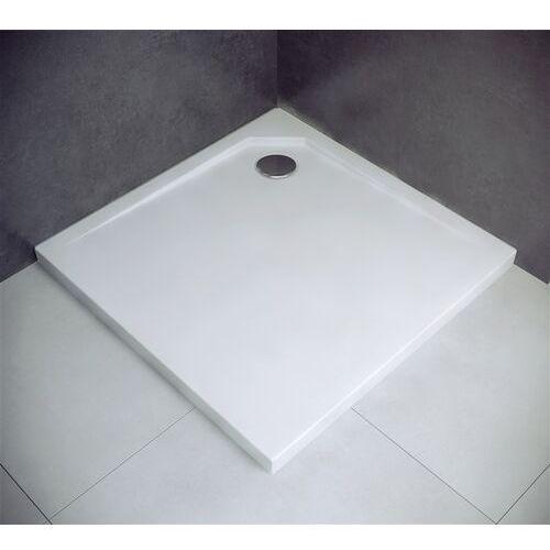Brodzik kwadratowy z konglomeratu 80x80 acro marki Besco