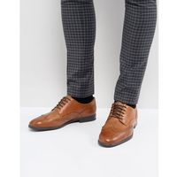 H By Hudson Indus Leather Brogue Shoes In Tan - Tan