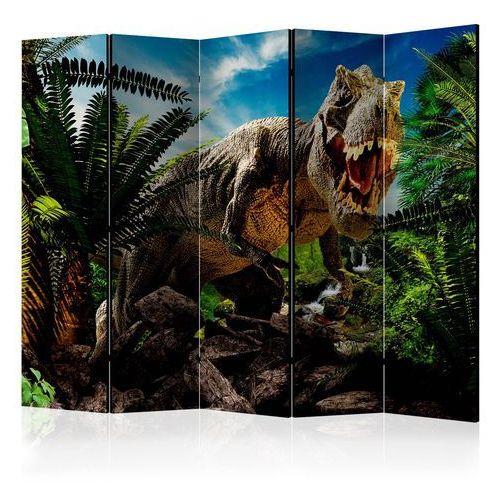 Parawan 5-częściowy - wściekły tyranozaur ii [room dividers] marki Artgeist