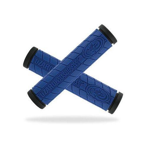 Lzs-ddmds400 chwyty kierownicy logo dc 30,5x130 mm, niebieskie marki Lizard skins