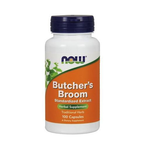 Now Foods Butcher's Broom (Ruszczyk kolczasty) standaryzowany ekstrakt 100 kaps.