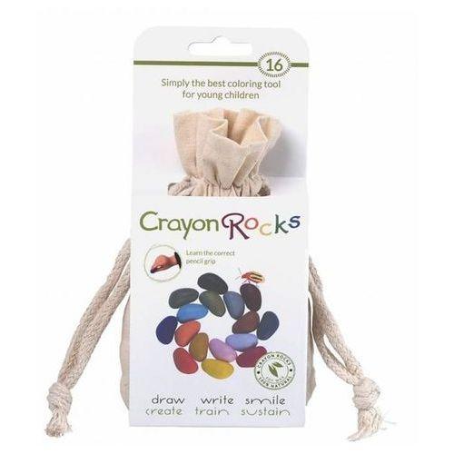 Kredki Crayon Rocks w bawełnianym woreczku - 16 kolorów CRNAT16, CRCMU16