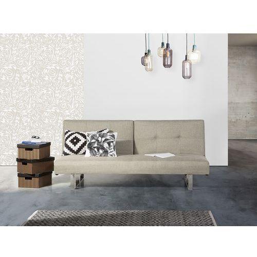 Sofa z funkcją spania jasnobeżowa - kanapa rozkładana - wersalka - dublin marki Beliani