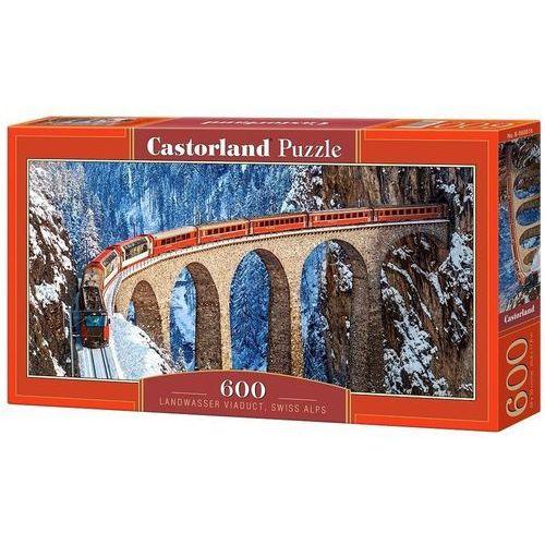 Puzzle 600 Panoramiczne Landwasser Viaduct, Swiss Alps (5904438060016)