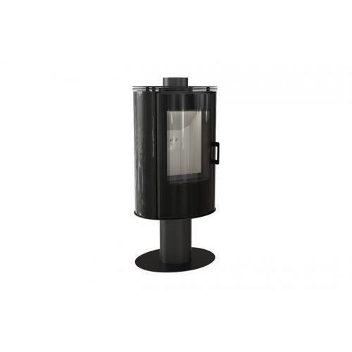 Piec kaflowy KOZA AB S/N/O GLASS kafel czarny + dodatkowy rabat przy zamówieniu + gratis, KOZA AB S/N/O GLASS KAFEL CZARNY