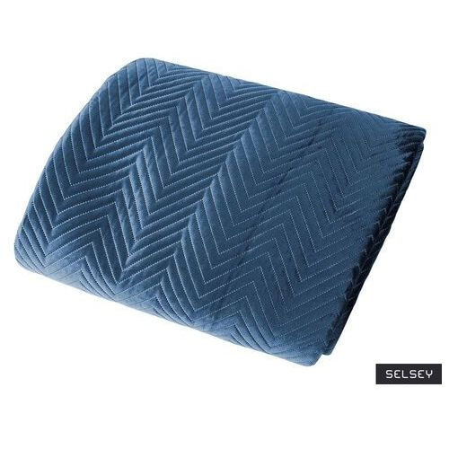 SELSEY Narzuta Annalie 70x160 cm z wzorem w jodełkę (5903025477831)