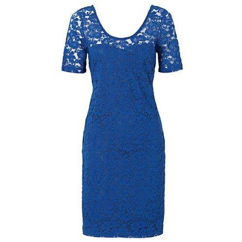 adde28b702 Sukienka koronkowa błękit królewski