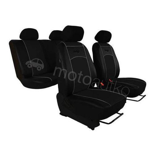 Pokrowce samochodowe uniwersalne Eko-skóra Czarne BMW Seria 3 F30-F31-F34 od 2012 - Czarny