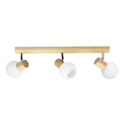 Listwa lampa oprawa sufitowa spot light karin 3x40w e14 brzoza/chrom/biały 2231360 marki Spotlight