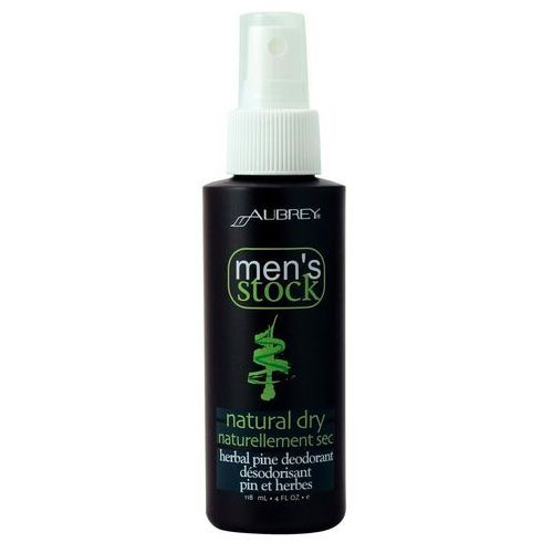 Men's stock natural dry dezodorant w sprayu z olejkiem sosnowym dla mężczyzn, marki Aubrey
